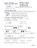 Đề thi HK 2 môn Toán lớp 10 - Trường THPT Phước Thạnh - Mã đề 101