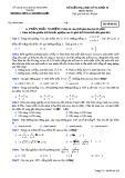 Đề thi HK 2 môn Toán lớp 10 - Trường THPT Lý Thường Kiệt - Mã đề 202