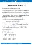 Bài tập phương pháp tách trong biến đổi phân thức đại số Toán nâng cao 8