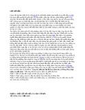 Tiểu luận: Thực trạng và giải pháp công tác tiếp dân tại Ủy ban nhân dân xã Đông Hòa