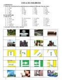 Bài tập tiếng Anh lớp 6 Unit 4: My neighbourhood