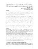 Bài viết Phân tích hành vi sử dụng rượu bia khi tham gia giao thông: Tiếp cận bằng phương pháp phân tích nguyên nhân - kết quả - TS Lê Thu Huyền