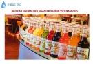 Báo cáo nghiên cứu ngành đồ uống Việt Nam 2015