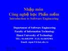 Bài giảng Nhập môn Công nghệ học phần mềm: Phần 5