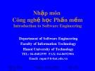 Bài giảng Nhập môn Công nghệ học phần mềm: Phần 6