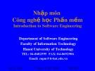 Bài giảng Nhập môn Công nghệ học phần mềm: Phần 3