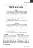 Bài viết Xây dựng thang đo đánh giá hành vi bạo lực đối với trẻ em của giáo viên trong nhà trường mầm non - Trịnh Viết Then