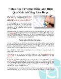7 mẹo học từ vựng tiếng Anh hiệu quả