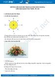Giải bài Thực hành Cắm hoa dạng tỏa tròn, tự do SGK Công nghệ 6
