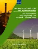 Các định hướng hoạt động môi trường 2013 - 2020: Thúc đẩy Chuyển đổi sang Tăng trưởng Xanh tại Châu Á - Thái Bình Dương