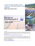 Đánh giá môi trường chiến lược của thủy điện dòng chính Mekong: Báo cáo cuối cùng - Soạn thảo cho Ủy hội Mekong quốc tế