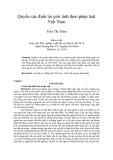 Quyền xác định lại giới tính theo pháp luật Việt Nam