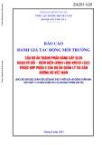 Báo cáo Đánh giá tác động môi trường của dự án thành phần nâng cấp QL39  đoạn Vô Hối - Diêm Điền (Km91+000-Km107+522) thuộc hợp phần C của dự án quản lý tài sản đường bộ Việt Nam