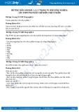 Hướng dẫn giải bài 1,2,3 trang 91 SGK Công nghệ 6