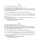 2 Đề kiểm tra 1 tiết môn Giải tích lớp 11