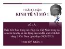Thảo luận nhóm: Phân tích thực trạng nợ công của Việt Nam trong vài năm trở lại đây và tác động của nó đến quá trình bền vững ở Việt Nam (giai đoạn 2008-2013)