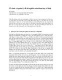 Tổ chức và quản lý đề tài nghiên cứu khoa học ở Nhật