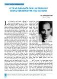 Danh nhân Quảng Bình: Vị trí và đóng góp của Lưu Trọng Lư trong tiến trình văn học Việt Nam