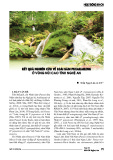 Kết quả nghiên cứu về loài sâm Puxailaileng ở vùng núi cao tỉnh Nghệ An