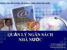 Bài giảng  Quản lý ngân sách nhà nước - TS. Bùi Quang Xuân
