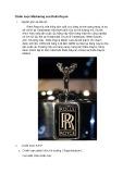 Chiến lược Marketing của Rolls-Royce