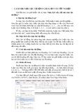Cách tạo mục lục tự động cho luận văn tốt nghiệp