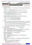 Chuyên đề 1: Ứng dụng đạo hàm khảo sát tính biến thiên và vẽ đồ thị hàm số