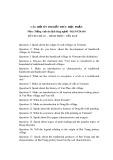 Câu hỏi ôn thi môn tiếng Anh du lịch làng nghề