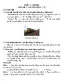 Đề cương ôn tập môn Vật lý 8