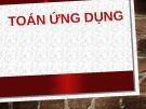 Bài giảng Toán ứng dụng - Phan Phương Dung
