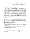 Đề kiểm tra HK 1 môn Ngữ văn lớp 10 năm 2016-2017 - Sở GD&ĐT Vĩnh Phúc
