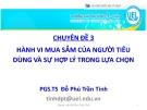 Bài giảng Chuyên đề 3: Hành vi mua sắm của người tiêu dùng và sự hợp lý trong lựa chọn - PGS.TS Đỗ Phú Trần Tình