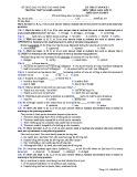 Đề kiểm tra 1 tiết HK 1 môn tiếng Anh lớp 12 - THPT B Nghĩa Hưng - Mã đề 357