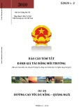 Báo cáo tóm tắt: Đánh giá tác động môi trường (Dự án đường cao tốc Đà Nẵng – Quảng Ngãi)