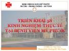 Triển khai 5s kinh nghiệm - thực tế tại bệnh viện Mỹ Phước