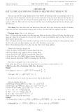 Chuyên đề: Đặt ẩn phụ giải phương trình và hệ phương trình vô tỷ