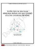 Tuyển tập các bài toán Hình học phẳng oxy hay và khó - Đoàn Trí Dũng