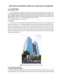 Một số kết quả nghiên cứu về mặt dựng tường kính của nhà cao tầng