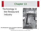 Lecture The restaurant:  From concept to operation (7th edition): Chapter 13 - Walker