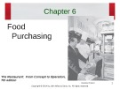 Lecture The restaurant:  From concept to operation (7th edition): Chapter 6 - Walker