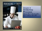 Lecture Purchasing for Chefs: Chapter 6 - Feinstein, Stefanelli