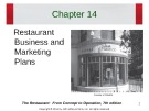 Lecture The restaurant:  From concept to operation (7th edition): Chapter 14 - Walker