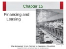 Lecture The restaurant:  From concept to operation (7th edition): Chapter 15 - Walker