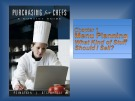 Lecture Purchasing for Chefs: Chapter 1 - Feinstein, Stefanelli