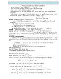 Ôn thi vào lớp 10 về Phương trình bậc cao