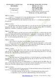 Đề thi HSG cấp tỉnh môn Hoá học lớp 12 năm 2014 - Sở GD&ĐT Thanh Hoá (Bổ túc)