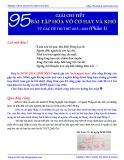 Giải chi tiết 95 bài tập Hoá vô cơ hay và khó