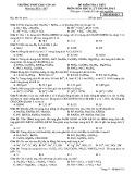 Đề kiểm tra 1 tiết môn Hoá học 11 nâng cao năm 2017 - THPT Chu Văn An - Mã đề 213