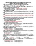 616 Câu trắc nghiệm Vật lí 11 chương 1: Điện tích - Điện trường - Tụ điện