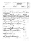 Đề kiểm tra HK 1 môn Toán lớp 12 năm 2017 - Sở GD&ĐT Kiên Giang - Mã đề 177